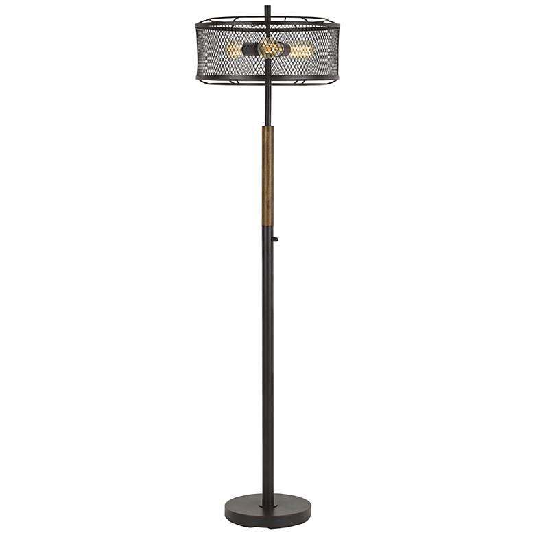 Dawson Dark Bronze and Wood Floor Lamp