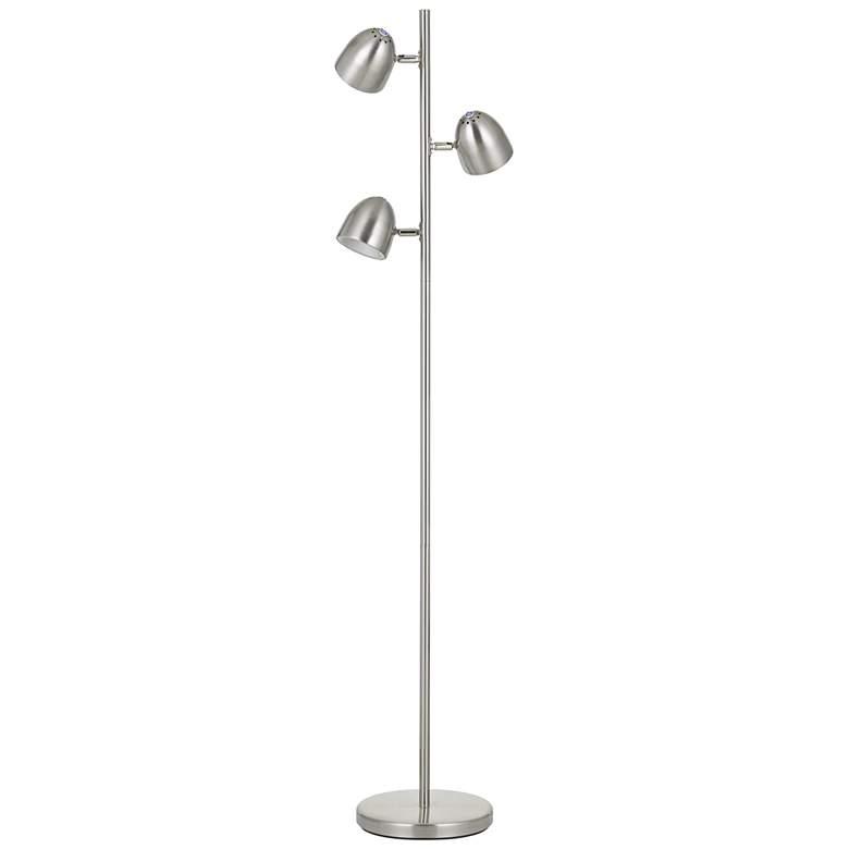 Larsen Brushed Steel 3-Light LED Tree Floor Lamp