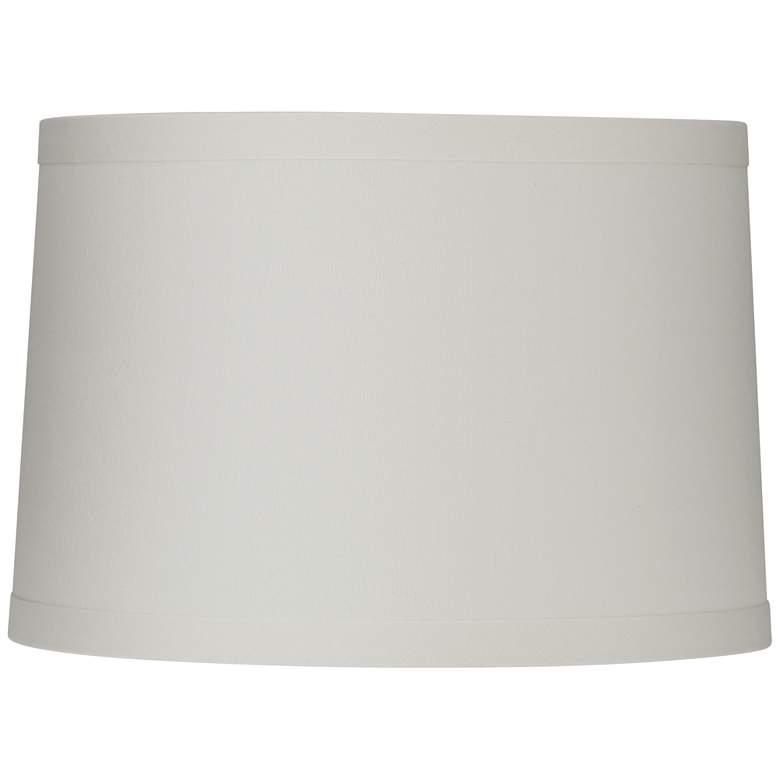 White Linen Drum Lamp Shade 15X16X11 (Spider)