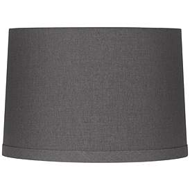 Gray Linen Drum Lamp Shade 15x16x11 Spider