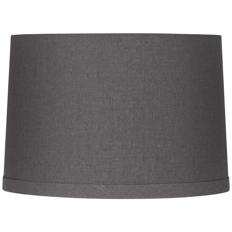 Gray Linen Drum Lamp Shade 15X16X11 (Spider)