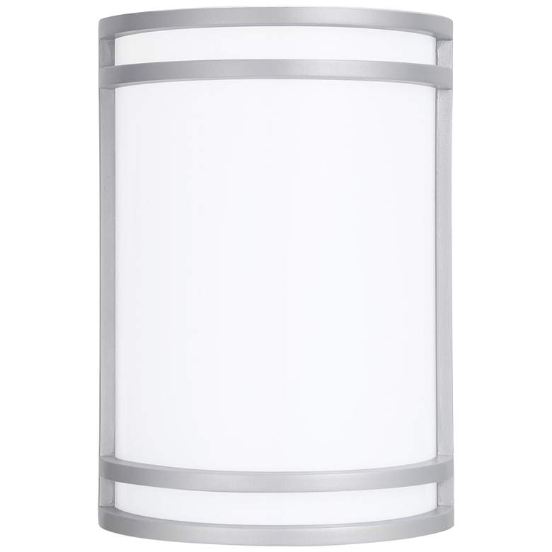 """Cyber Tech Saturn 10"""" High Satin Nickel LED Wall Sconce"""