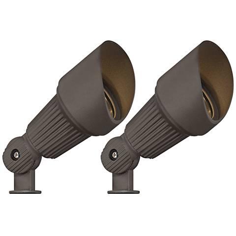 "2-Pack Hooded Bronze 7 1/2""H LED Landscape Spotlight"
