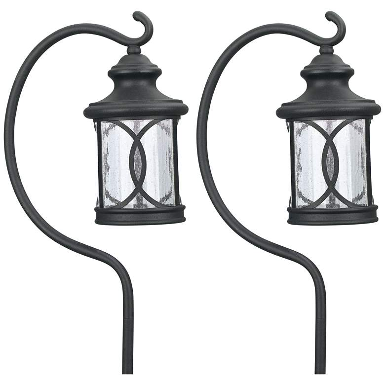 "Set of 2 Capistrano 23""H  LED Black Shepherd's Path Light"