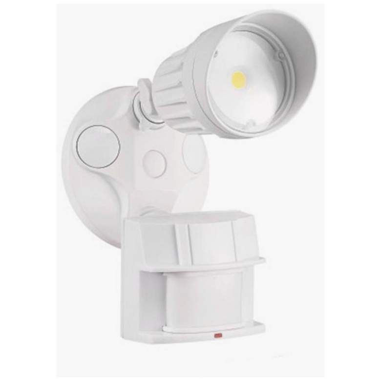 King Single Head LED Motion Sensor Security Light in White