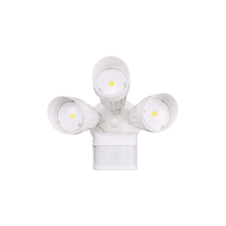 Eco-Star White Triple Head LED Motion Sensor Security