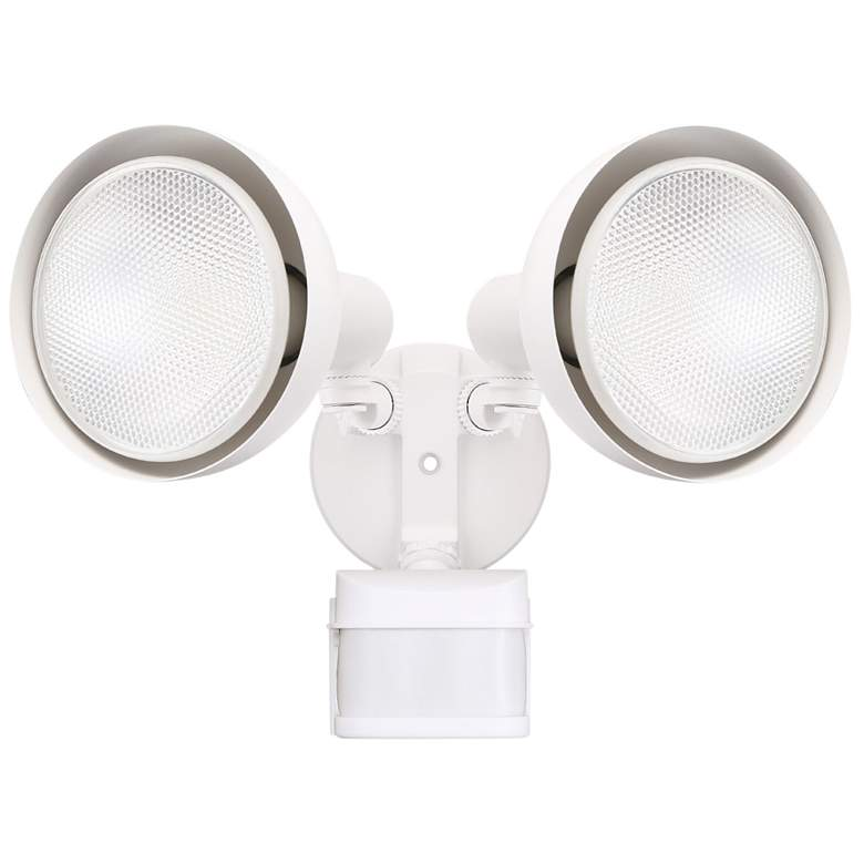 Hollis White 270 Degree Motion Sensor Outdoor Flood Light