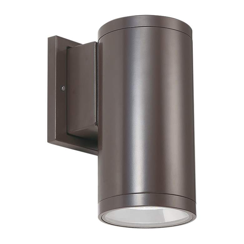 "Tubular 8""H Bronze 3000K LED Downlight Outdoor Wall Light"