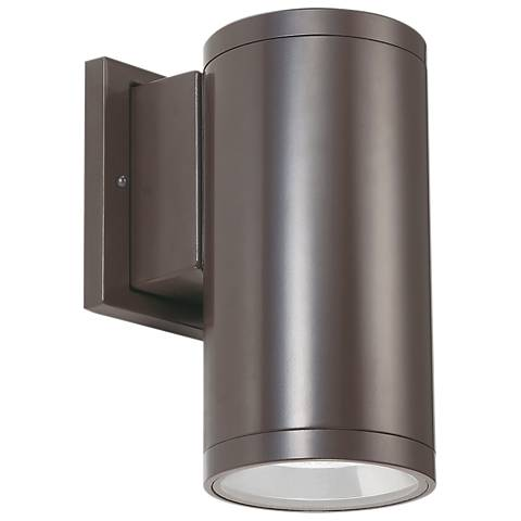 "Tubular 5""H Bronze 5000K LED Downlight Outdoor Wall Light"