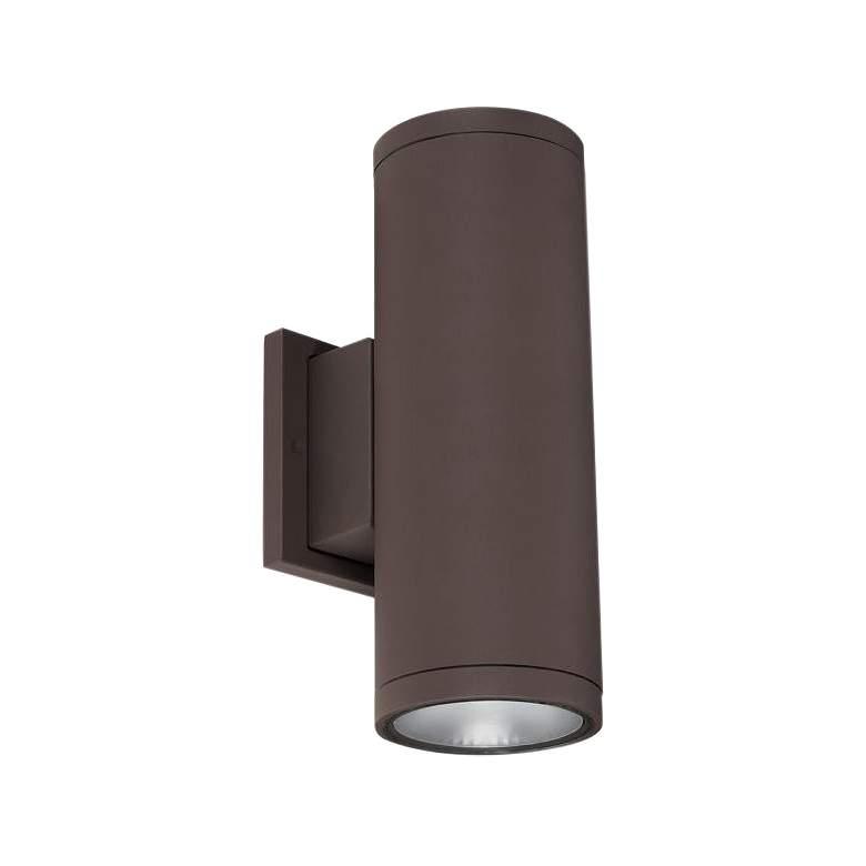 "Tubular 5"" High Bronze 3000K LED Up/Down Outdoor Wall Light"
