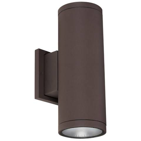 "Tubular 5"" High Bronze 5000K LED Up/Down Outdoor Wall Light"