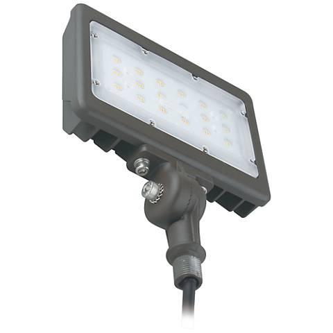 Orion Dark Bronze Hardwire LED Flood Light w/ Knuckle Mount