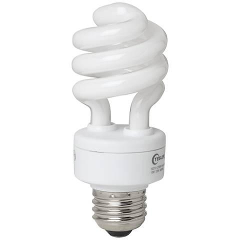 Tesler 13 Watt Warm White ENERGY STAR® Spiral CFL Bulb