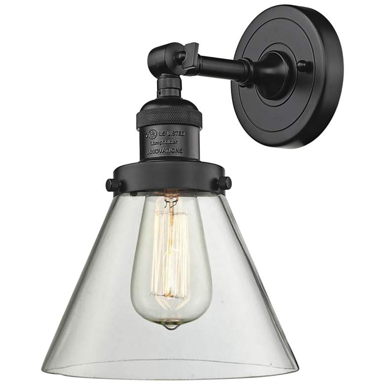 """Large Cone 10"""" High Oil-Rubbed Bronze Adjustable Wall Sconce"""