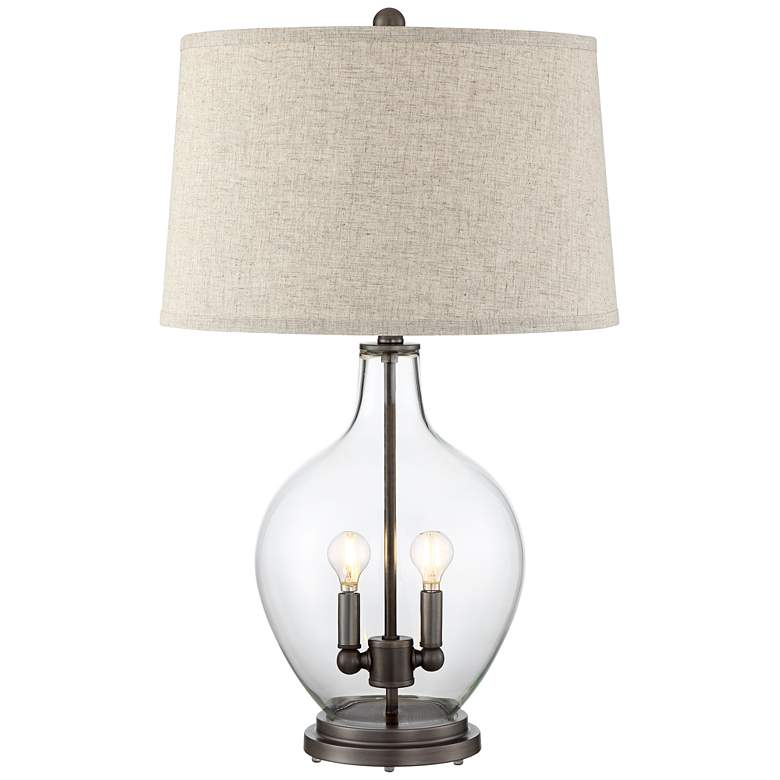 Becker Clear Glass Night Light Table Lamp