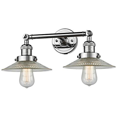 "Halophane 7""H Polished Chrome 2-Light Adjustable Wall Sconce"