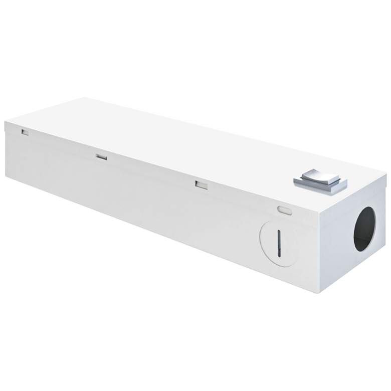 """9.4"""" Wide White 60W LED Phase Dimming Driver Receiver J-Box"""