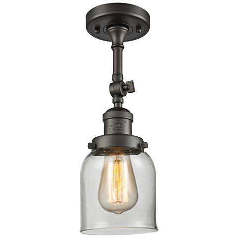 "Small Bell 5""W Oil-Rubbed Bronze Adjustable Ceiling Light"