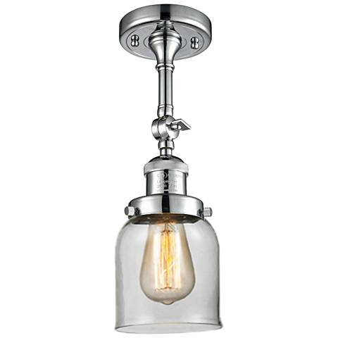 "Small Bell 5"" Wide Polished Chrome Adjustable Ceiling Light"