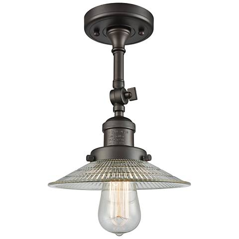 "Halophane 8 1/2"" Wide Rubbed Bronze Adjustable Ceiling Light"