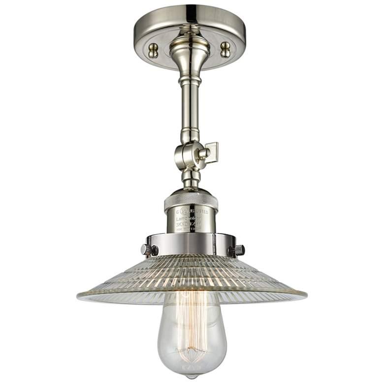 """Halophane 8 1/2""""W Polished Nickel Adjustable Ceiling Light"""