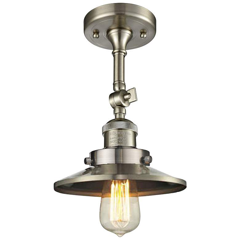 "Railroad 8""W Satin Brushed Nickel Adjustable Ceiling Light"