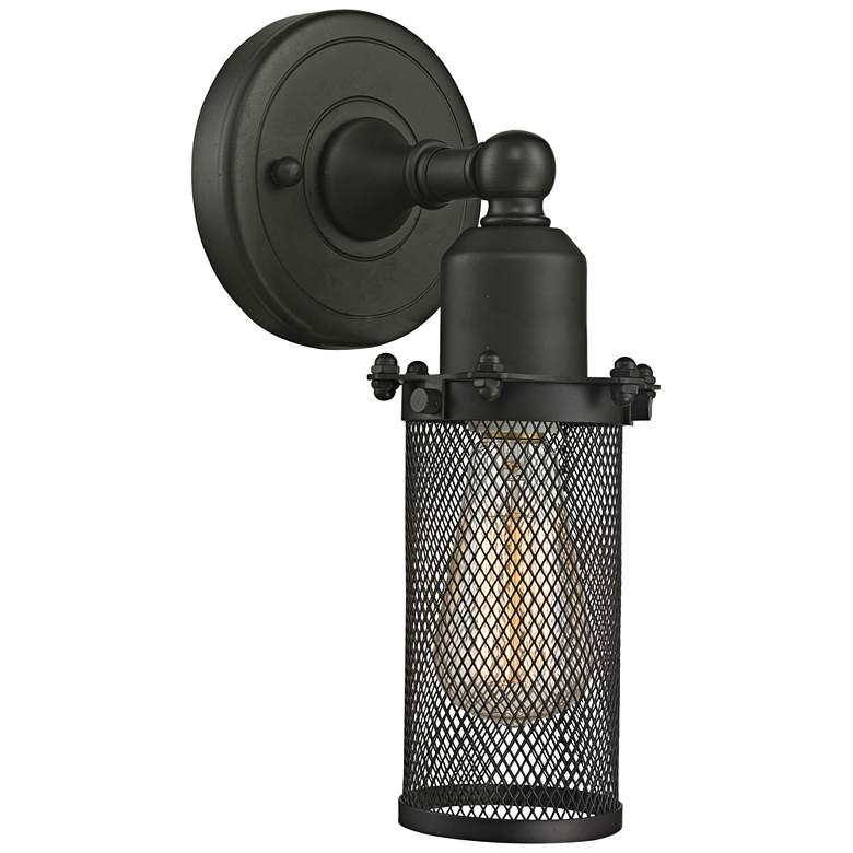 """Quincy Hall 10"""" High Oil-Rubbed Bronze A Wall Sconce"""