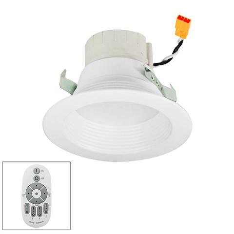 "Prism 4"" White LED Master Remote Retrofit Baffle Downlight"
