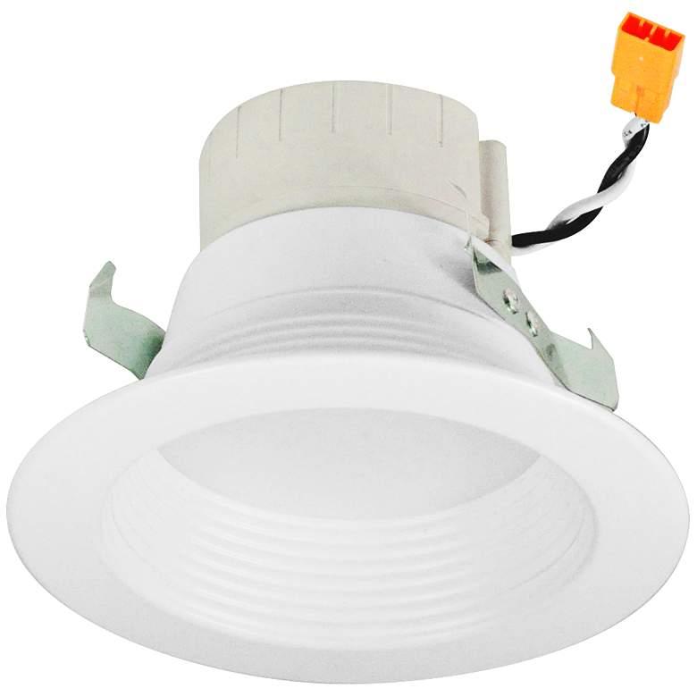 "Nora Prism 4"" White Smart LED App Retrofit Baffle Downlight"