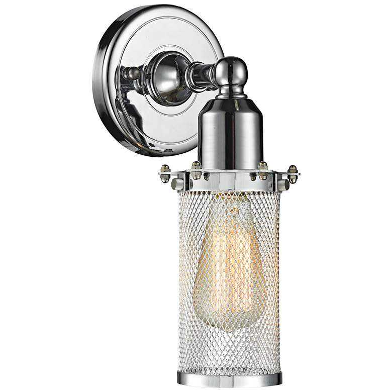 "Quincy Hall 10"" High Polished Chrome A Wall Sconce"