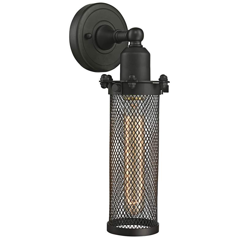 """Quincy Hall 12"""" High Oil-Rubbed Bronze T Wall Sconce"""
