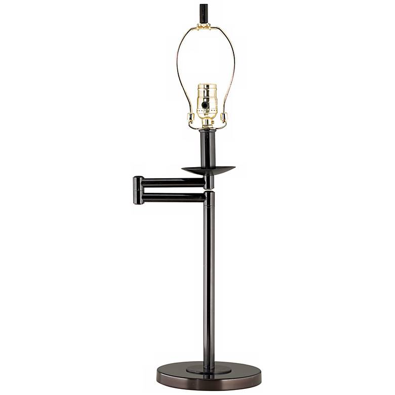 "Bronze 25"" High Swing Arm Desk Lamp Base"
