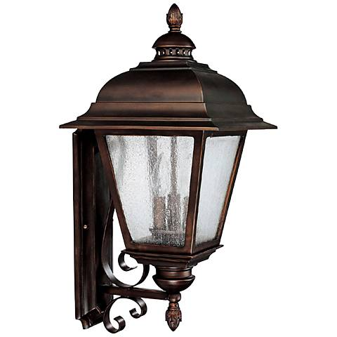 "Capital Brookwood 25"" High Old Bronze Outdoor Wall Light"