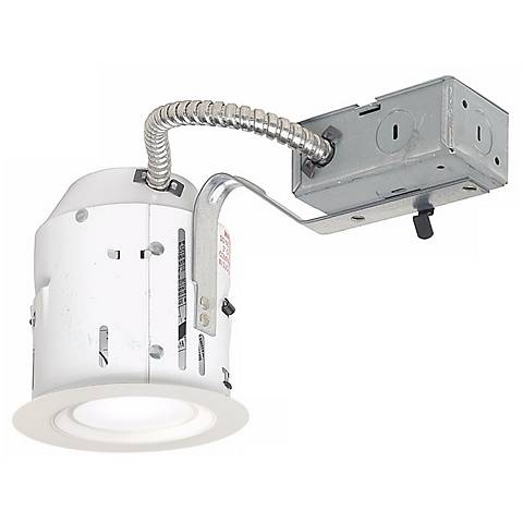 """4"""" Non-IC Remodel 10W 650lm LED Complete Recessed Light Kit"""