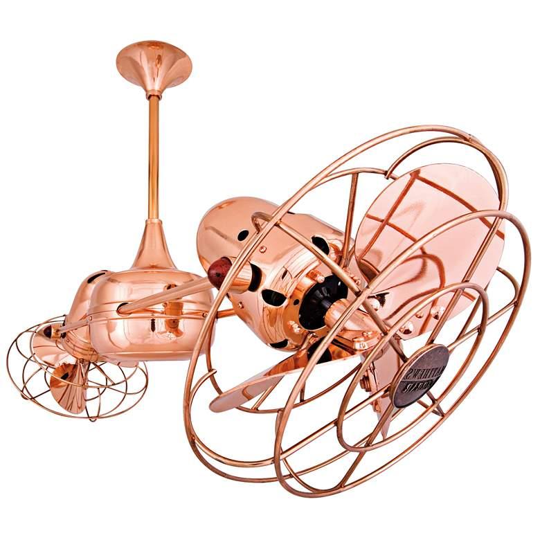 """39"""" Matthews Duplo Dinamico Copper Dual-Head Ceiling Fan"""