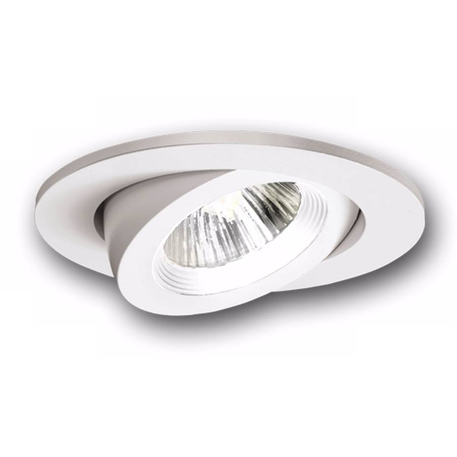 Halo 3 recessed white baffle trim with adjustable gimbal