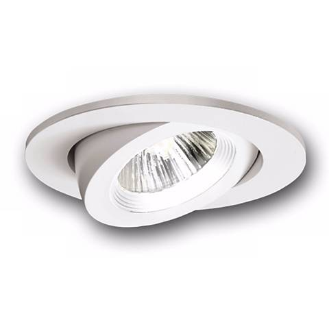 """Halo 3"""" Recessed White Baffle Trim with Adjustable Gimbal"""