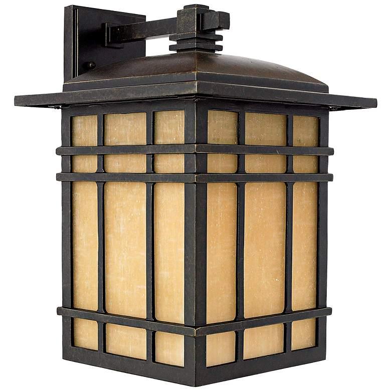 """Quoizel Hillcrest 15 1/2"""" High Bronze Outdoor Wall Light"""