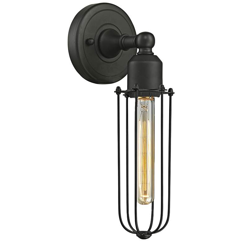 """Muselet 13"""" High Oil-Rubbed Bronze T Wall Sconce"""