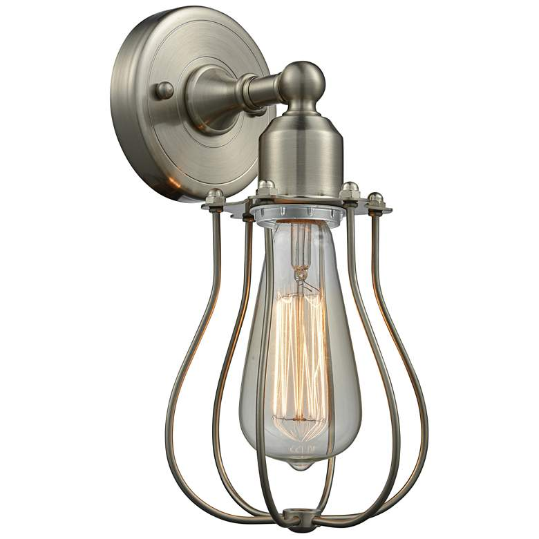 """Muselet 11"""" High Satin Brushed Nickel A Wall Sconce"""