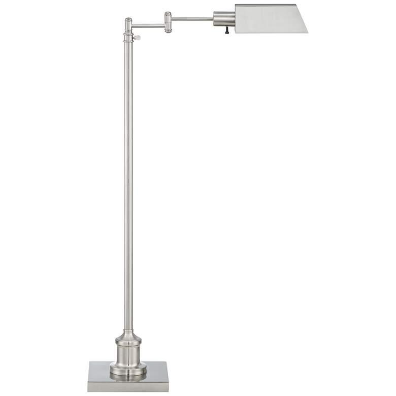 Jenson Brushed Nickel Adjustable Pharmacy Floor Lamp