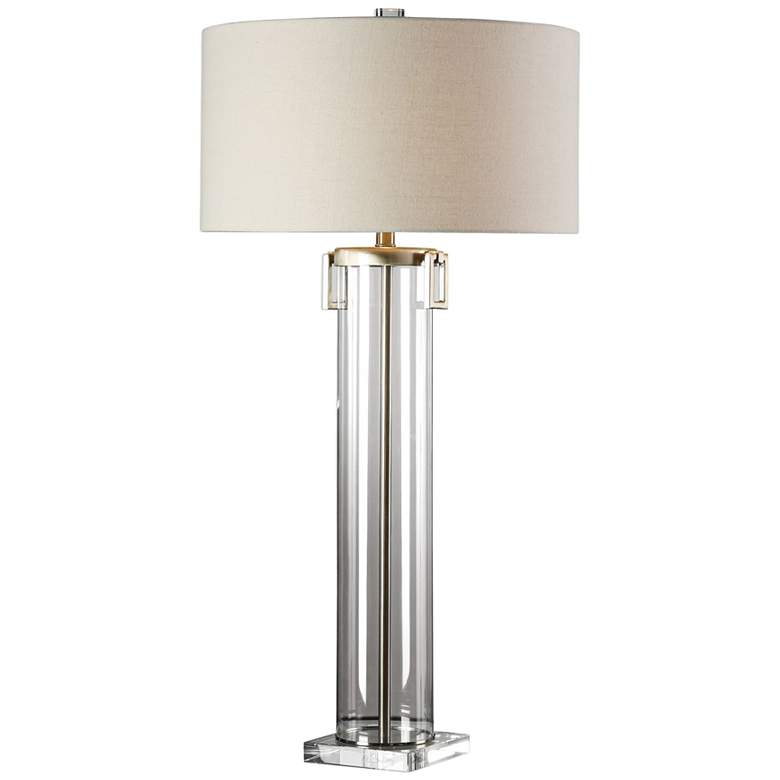 Uttermost Monette Clear Acrylic Tall Cylinder Table Lamp