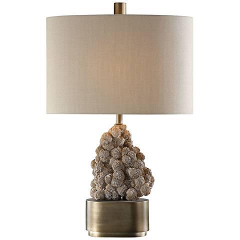 Uttermost Desert Rose Gypsum Table Lamp
