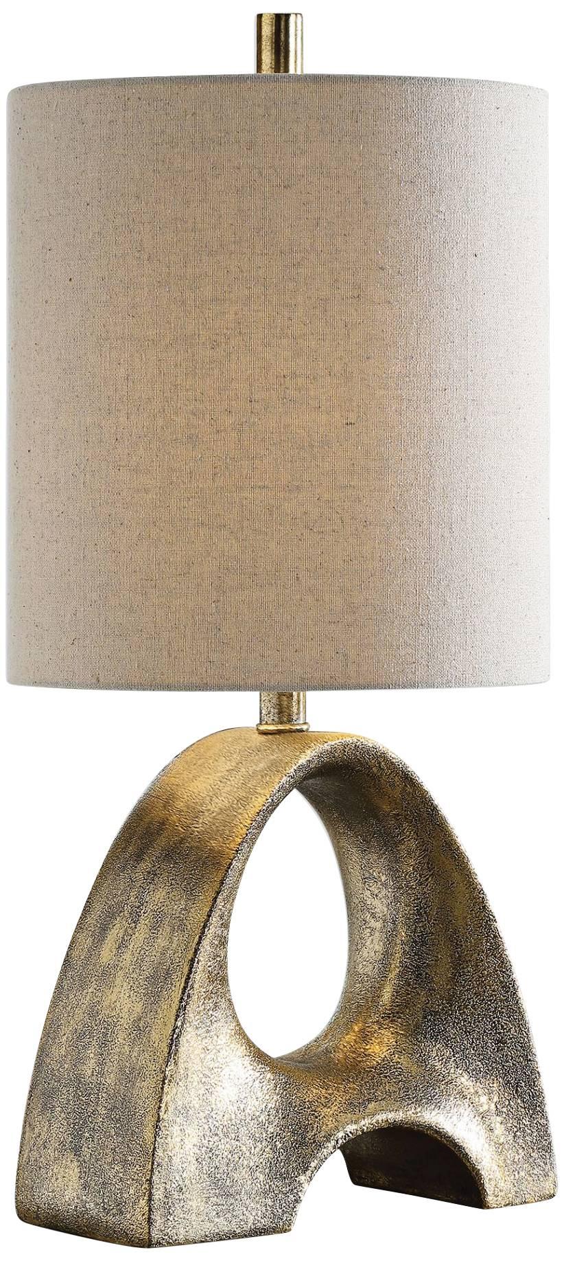 Ladler metallic gold leaf ceramic buffet table lamp