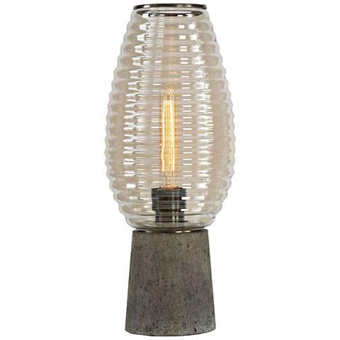 """Alvarium Amber Glass and Concrete 19 1/2""""H Accent Table Lamp"""