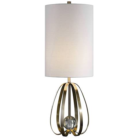 Uttermost Avola Antique Brushed Nickel Buffet Table Lamp