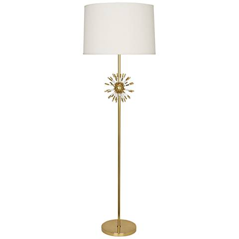 Robert Abbey Andromeda Modern Brass Floor Lamp