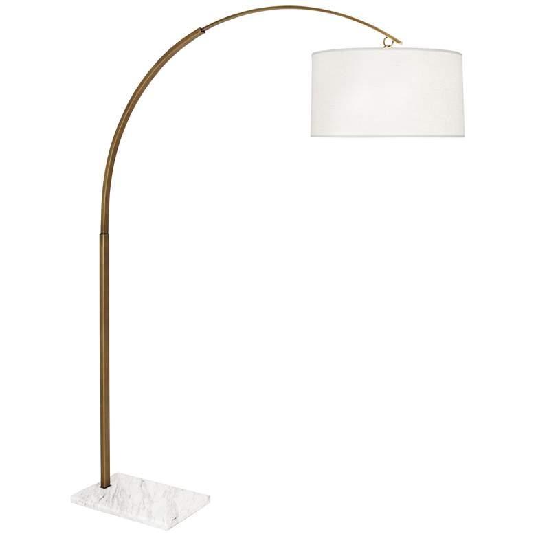 """Robert Abbey Archer 80 1/2"""" High Warm Brass Arc Floor Lamp"""