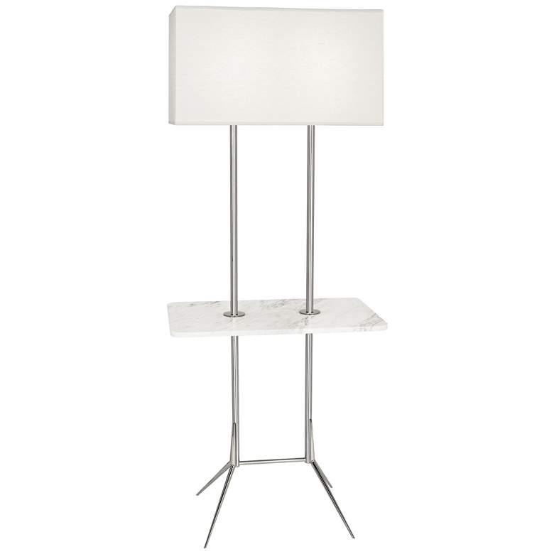 "Martin 60 1/2""H Modern Nickel Floor Lamp with"