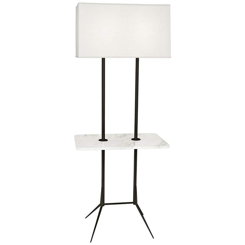 "Martin 60 1/2""H Modern Bronze Floor Lamp with Marble Table"